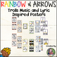 Trolls Music and Lyrics Inspired Posters {Rainbow and Arrows}