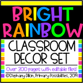 Rainbow and Black Classroom Decor Set