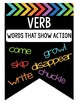 Rainbow and Black Parts of Speech Posters