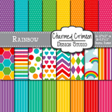 Rainbow and Cloud Digital Paper 1098