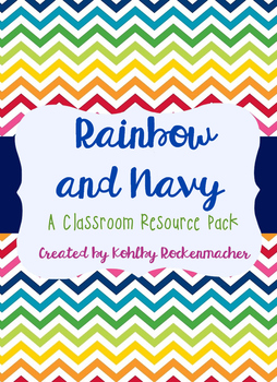Rainbow and Navy: Teacher's Binder and Resource Printables
