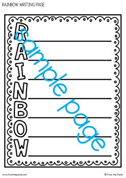 Rainbow and Sunshine Craftivity {Acrostic Poem}