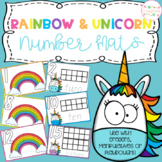 Playdough Number Mats Rainbow and Unicorn