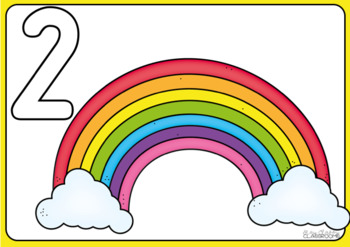 Playdough Number Mats Rainbow and Unicorn