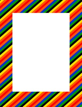 Rainbow background and borders