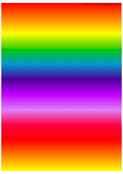 Rainbow background for light table A3 size