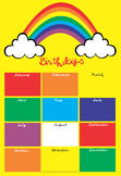 Rainbow birthdays poster