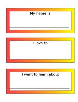 Rainbow border phrase cards