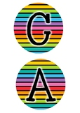 Rainbow calendar sign