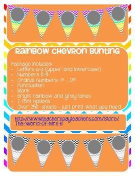 Rainbow chevron banner/bunting