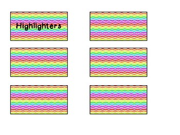 Rainbow chevron labels