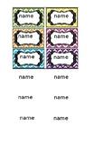 Rainbow chevron name labels