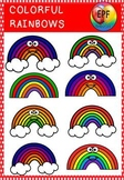 Rainbow clipart(50% off for 48 hours- FREE CLIPART IN PREVIEW)