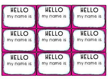 Rainbow color Name Tag Inserts