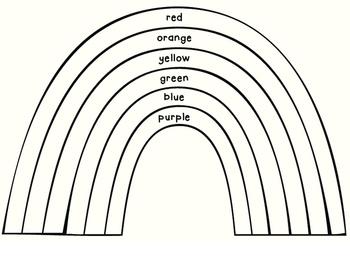 Rainbow color words