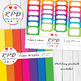 Herringbone chevrons rainbow colours digital paper set/ backgrounds