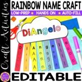 Rainbow Craft | Rainbow Editable Name Practice | Rainbow C