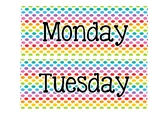 Rainbow days of the week cards