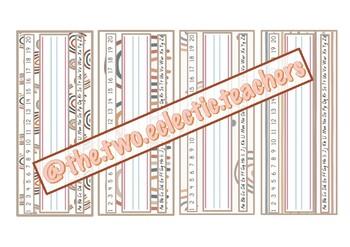 Rainbow desk plates/ tags