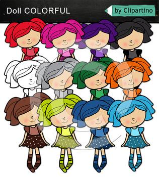 Rainbow doll clipart