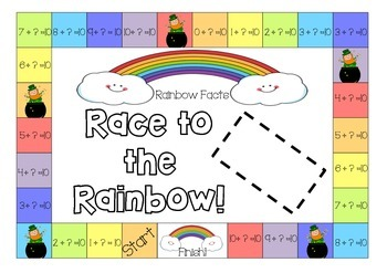 Rainbow fact (Make 10) Race to the Rainbow!