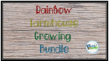 Rainbow farmhouse Growing Bundle