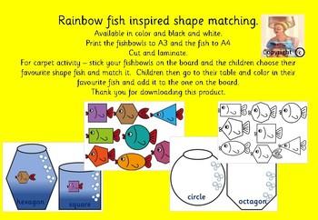 Rainbow fish inspired shape matching.