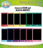Rainbow iPad / Tablet Clipart {Zip-A-Dee-Doo-Dah Designs}