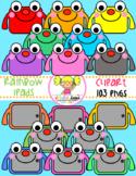 Rainbow iPads Clipart