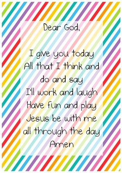 Rainbow morning prayer - poster