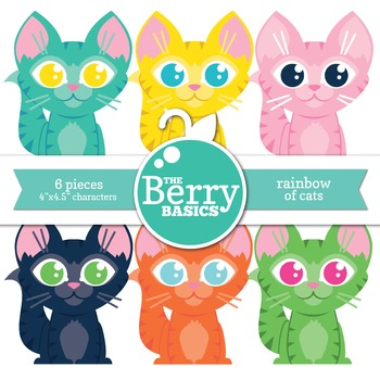 Rainbow of Cats- Freebie 6 Pack
