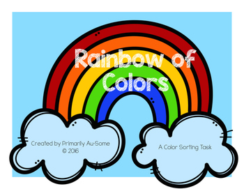 Rainbow of Colors (Velcro Tasks for Students w Autism)