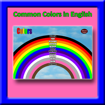 Rainbow of English Colors Poster