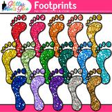 Rainbow Footprint Clip Art {Feet Graphics for Brag Tags &