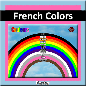 Rainbow of French Colors Poster