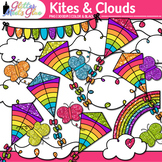 Kite, Cloud, and Butterfly Clip Art {Graphics for Spring a