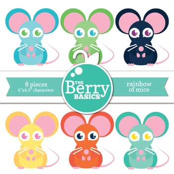 Rainbow of Mice- 6 Pack