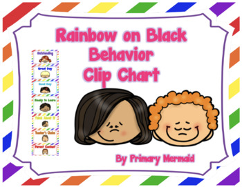 Rainbow on White Clip Chart