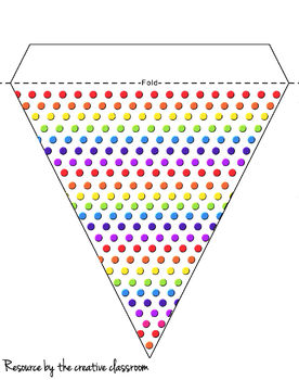 Rainbow polkadot bunting