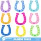 Clipart, Rainbow Ponies Clipart, Pony Clip art, Western Theme Clipart, AMB-161
