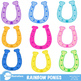 Clipart, Rainbow Ponies Clipart, Pony Clip art, Western Th
