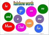 Rainbow sight word mat for literacy centre 2