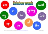 Rainbow sight word mat for literacy centre