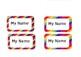 Rainbow strip classroom labels editable