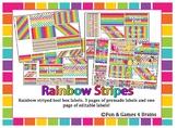 FREE!! Rainbow stripe Themed Tool Box Labels EDITABLE!!