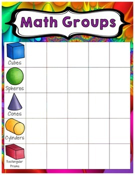 Rainbow themed - Math Group Posters