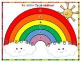 Rainbow to 10 Addition Mat & Recording Sheet