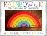 Rainbow to 10 {Craftivity}