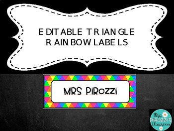 Rainbow triangle labels