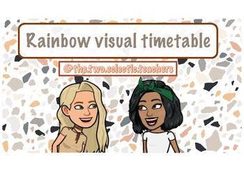 Rainbow visual timetable
